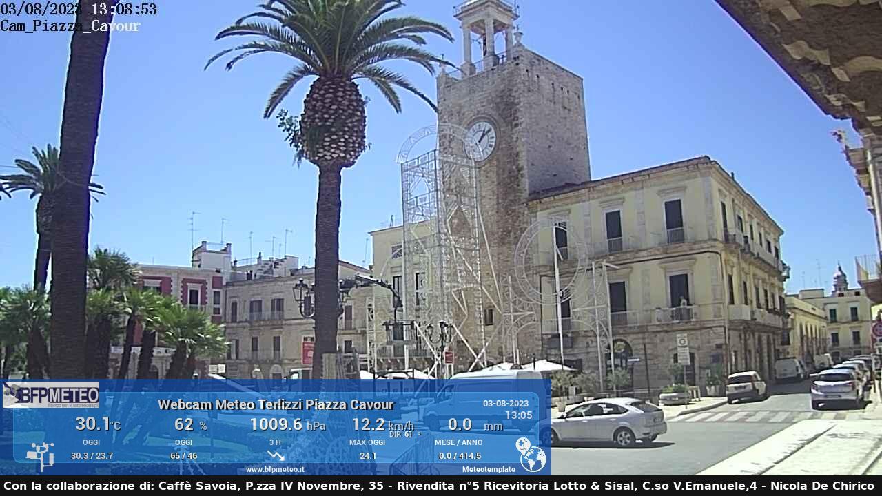 Ultima immagine dalla webcam di Terlizzi